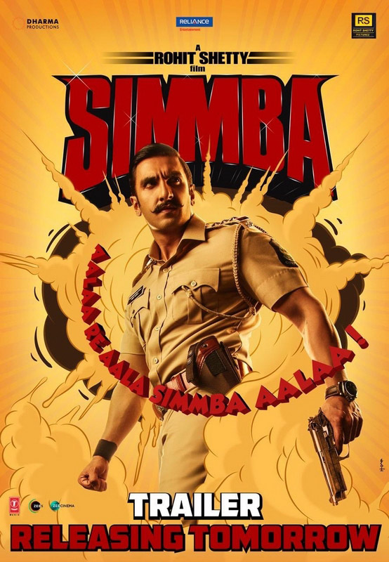 "A corrupt police officer, Sangram ""Simmba"" Bhalerao joins the police force with a mission to benefit from bribes and a corrupt career."