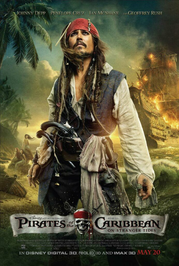 An American 2011 film classified fantasy swashbuckler film, the fourth film to be released by Pirates of the Caribbean movies and a sole continuation of At World's End of 2007.