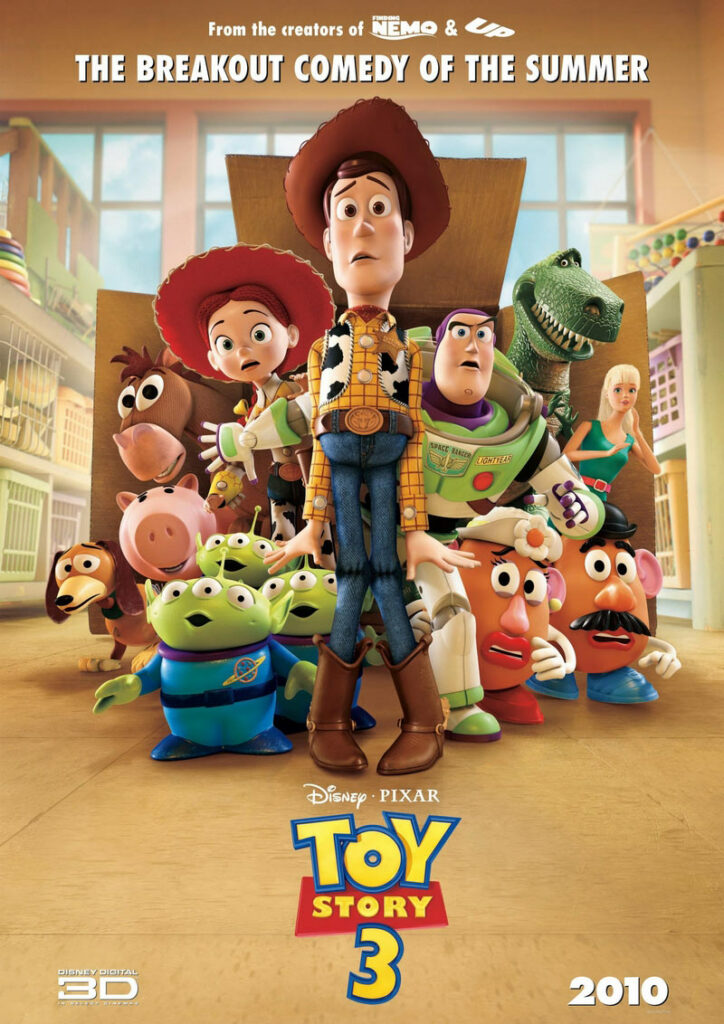 Toy is a 2010 computer-animated comedy film set by Pixar Animation Studios on behalf of Walt Disney Pictures.